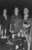 Lady Rowan and Lord Orion with Rayna at her initiation, 1983.