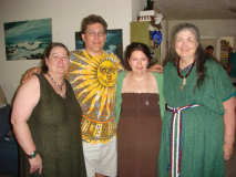 L to R: Lady Lilleth, Lord Canu, Lady Lavendyr, and Lady Pleides at the elevation of Lilleth and Lavendyr, Bradenton, Florida, 2010.